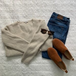 Madewell merino wool tan sweater